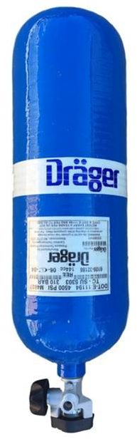 Drager 60 minute 4500 psi Cylinder