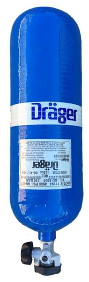 Drager 45 minute 4500 psi Cylinder